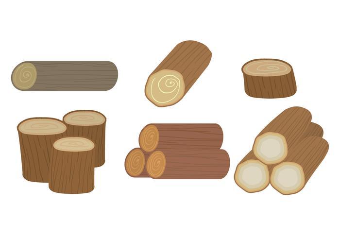 Wood Logs Vector