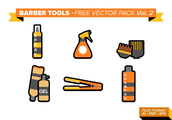 Barber Tools Free Vector Pack Vol. 2
