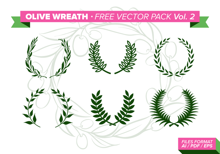 Olive Wreath Free Vector Pack Vol. 2