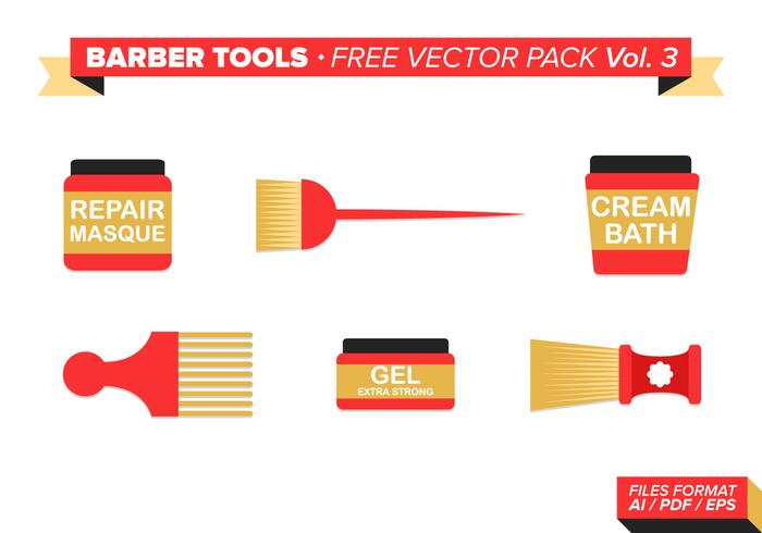 Kapper Gereedschap Gratis Vector Pack Vol. 3