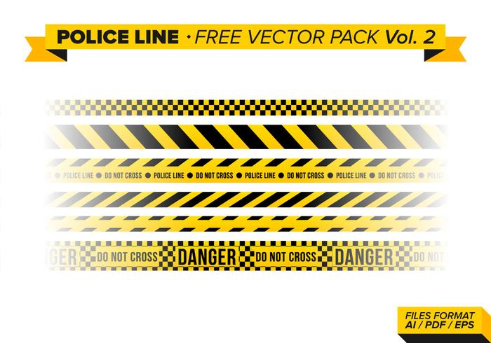 Police Line Free Vector Pack Vol. 2