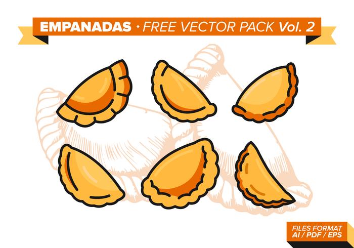Pacote de vetores grátis empanadas vol. 2