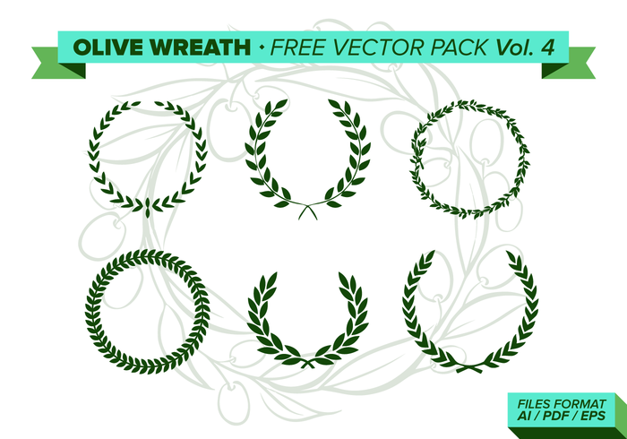 Olive Wreath Free Vector Pack Vol. 4