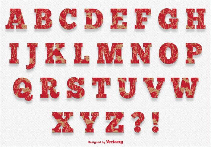 Alphabet Style de peinture gratté vecteur