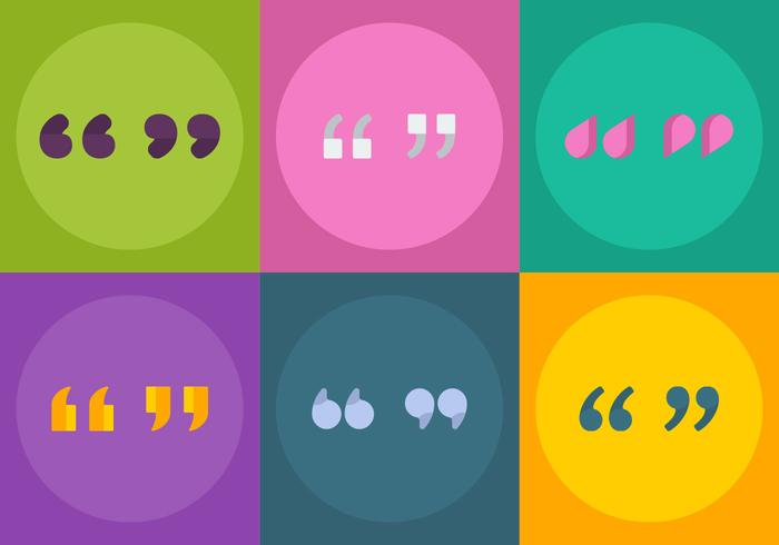 Free Vector Quotation Marks