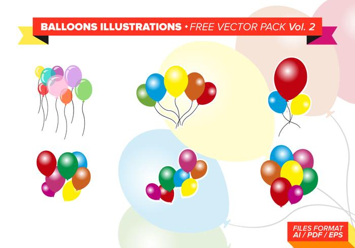 Ballonger Illustrationer Gratis Vector Pack