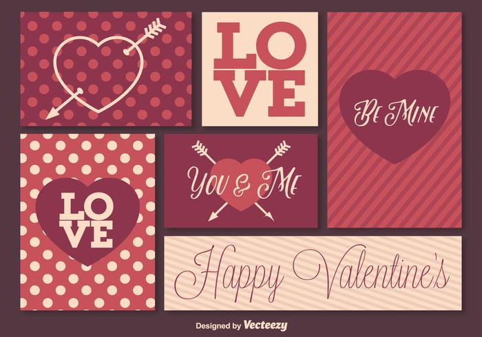 Retro Valentine's Day Elements