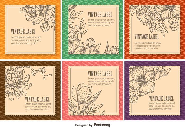 Floral Vintage Labels