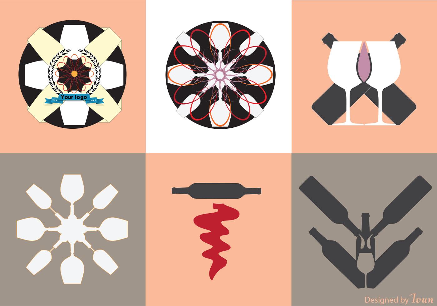 wine vector logos download free vector art stock