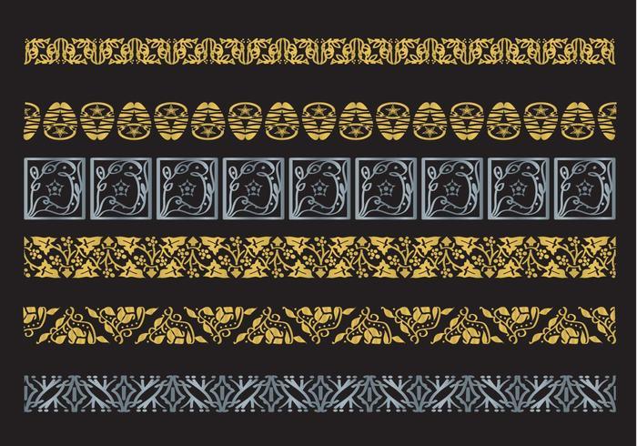 Decorative Arabesco Vector Borders