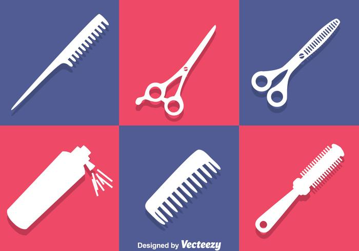 Barber Tools White Icons