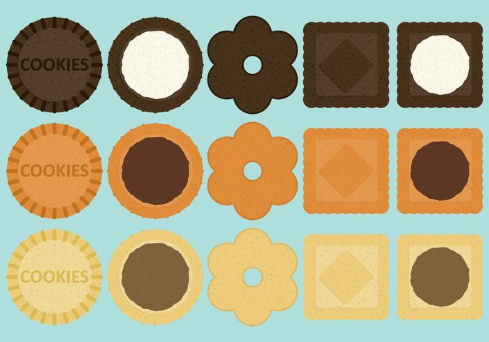Sandwich Cookie Vectors
