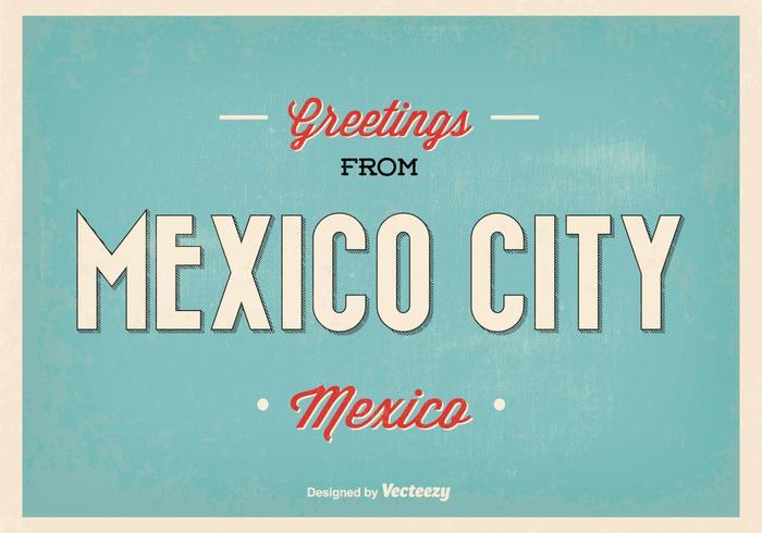 Ilustração retro do cumprimento da Cidade do México