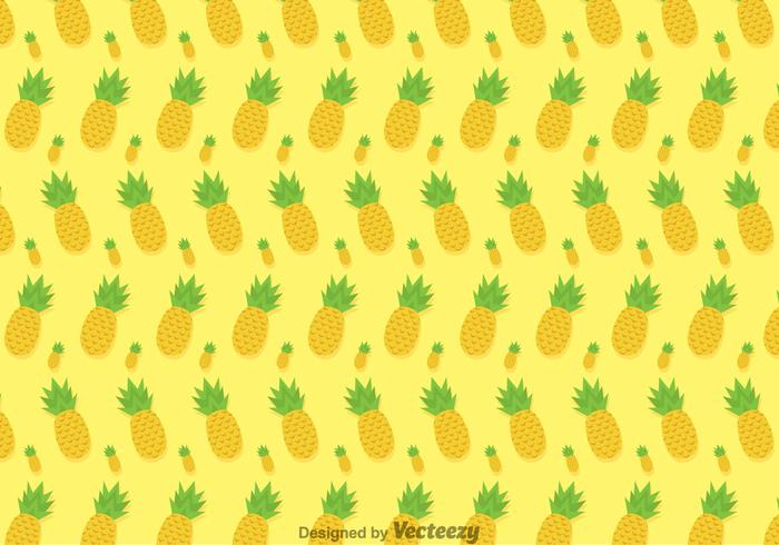 Pineapple Ananas Vector Pattern