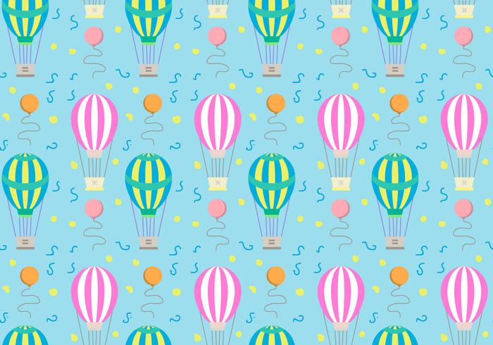Hot Air Balloons Pattern Vector