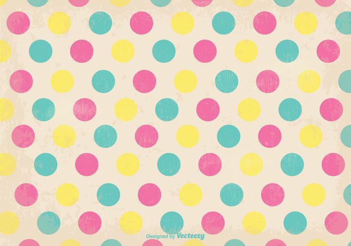 Old Retro Polka Dot Style Background