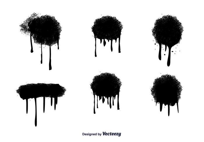 Gouttes vectorielles de peinture par pulvérisation
