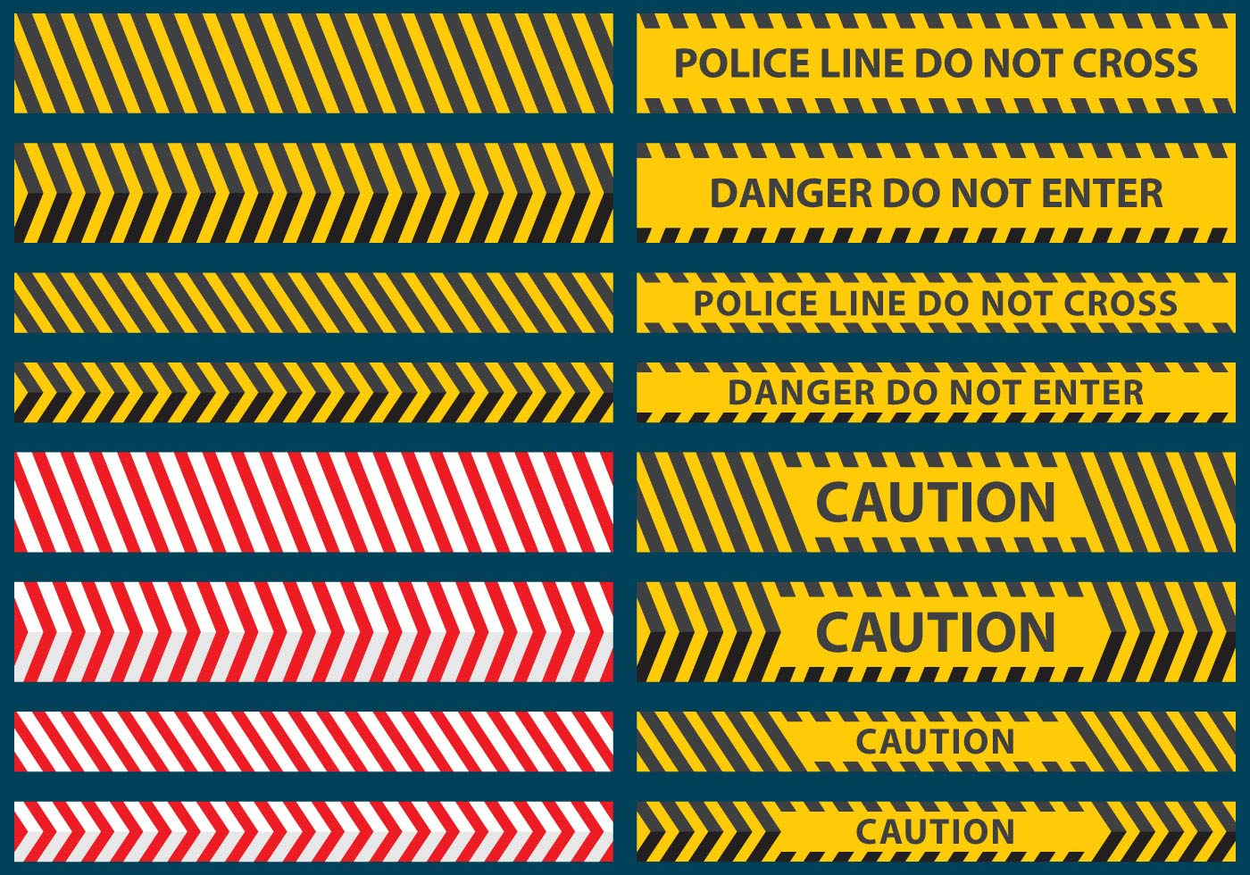 Under Construction Tape Background Police Line Tape Vecto...