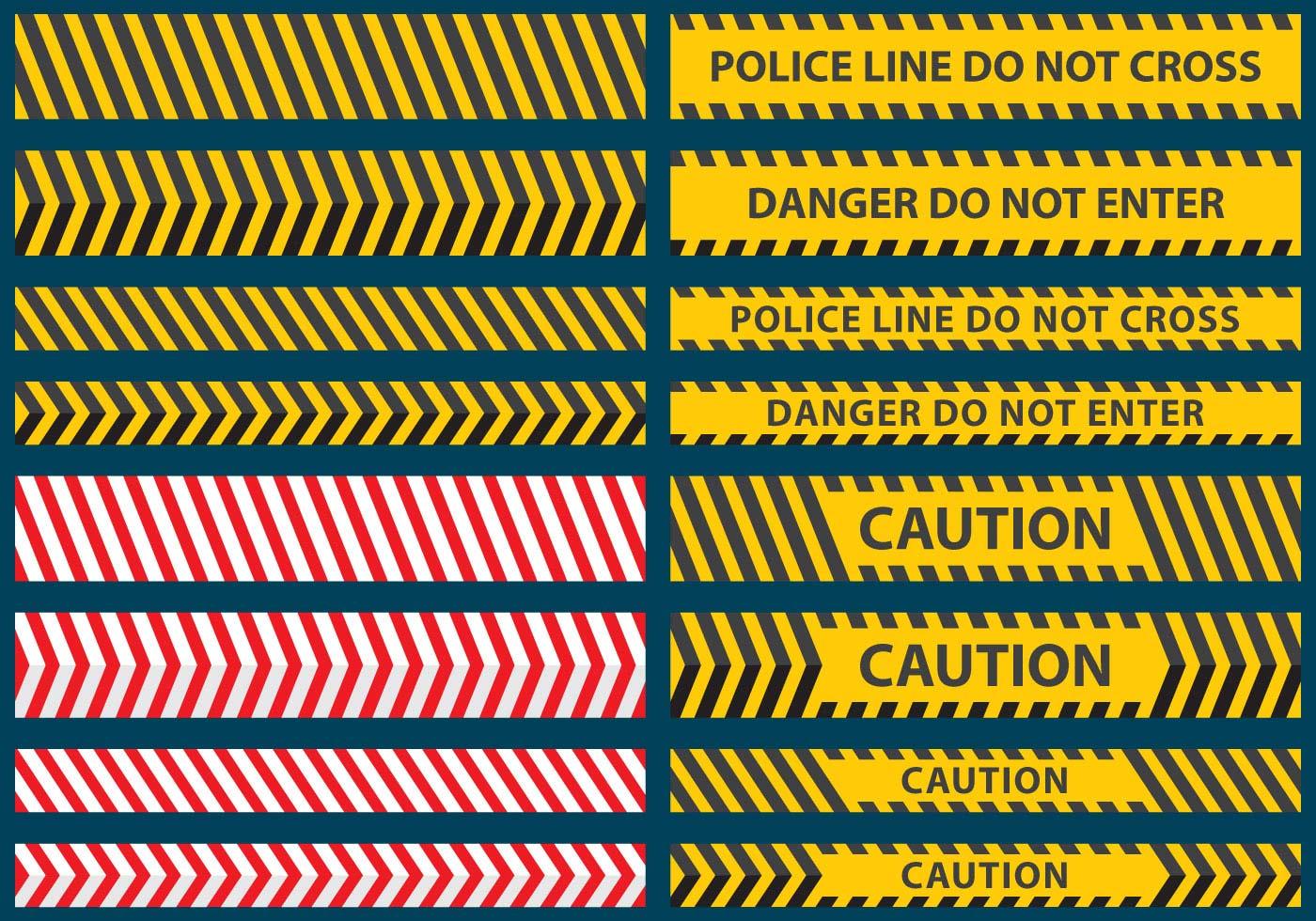 police line tape vectors download free vector art  stock Solid Tape Vector caution tape vector free