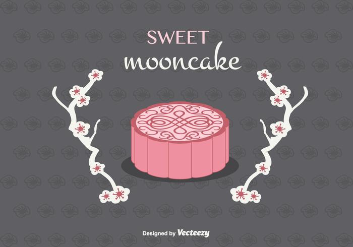 Mooncake Vector Background