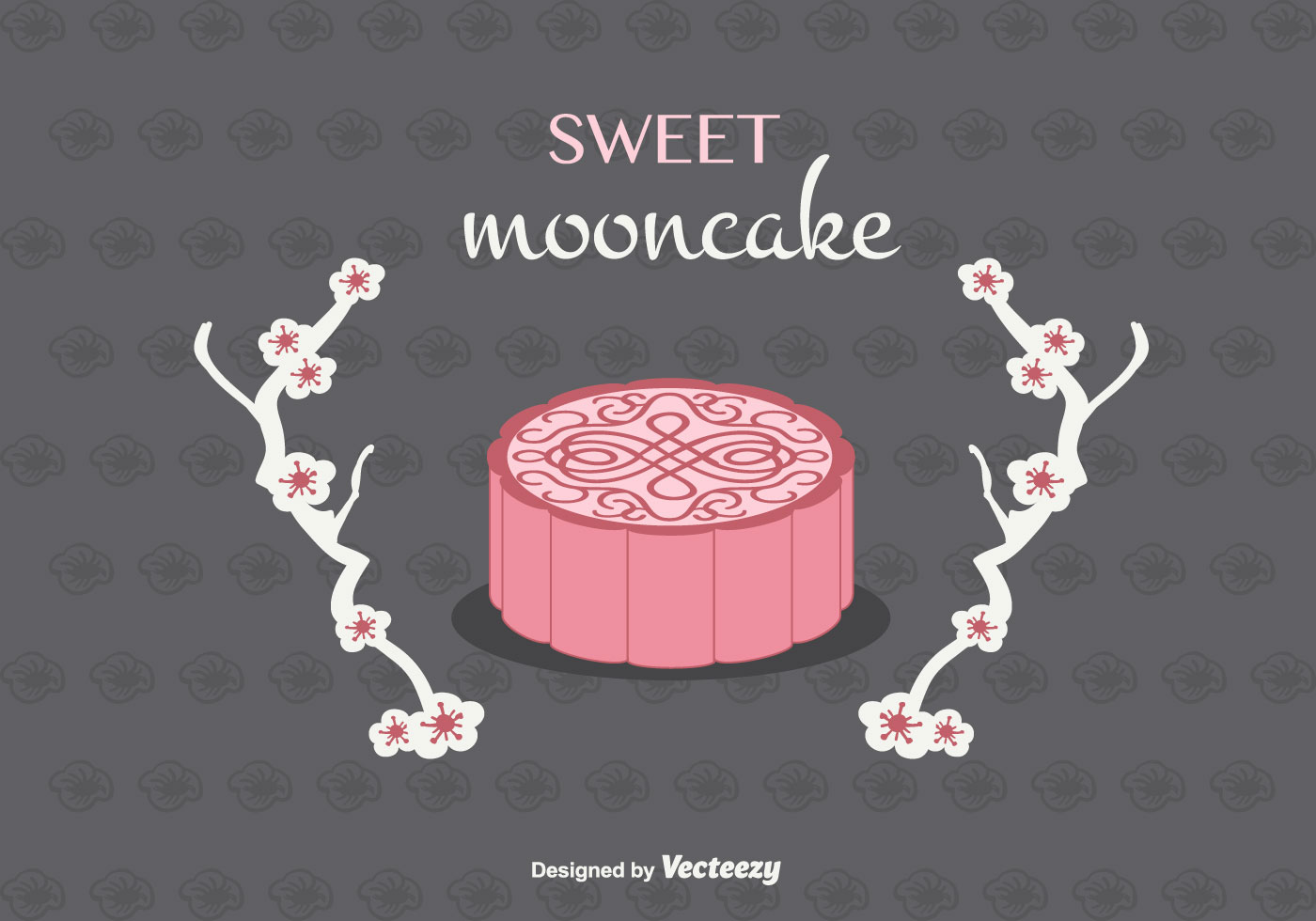 Mooncake Vector Background Download Free Vector Art