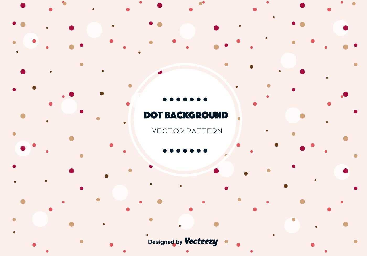 Cute Dot Background Vector Download Free Vector Art