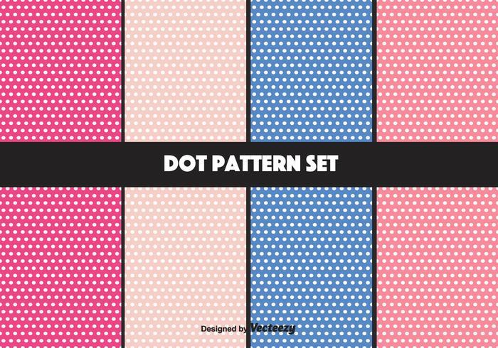 Girly Vector Dot Pattern Set