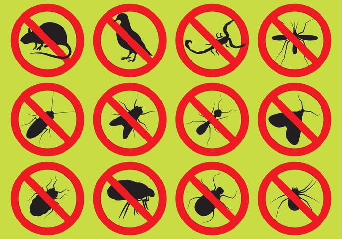 Pest Control Vector Icons