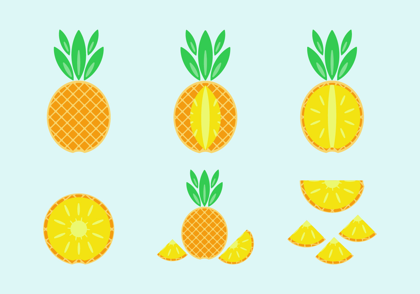 Free Pineapple Vector Pack - Download Free Vector Art ...