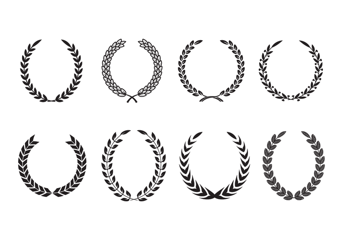 Free Olive Wreath Vector