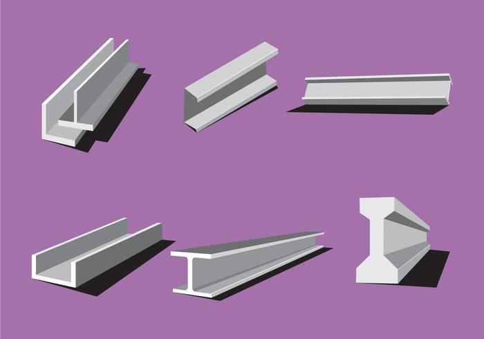 Industrial Steel Beam Vectors