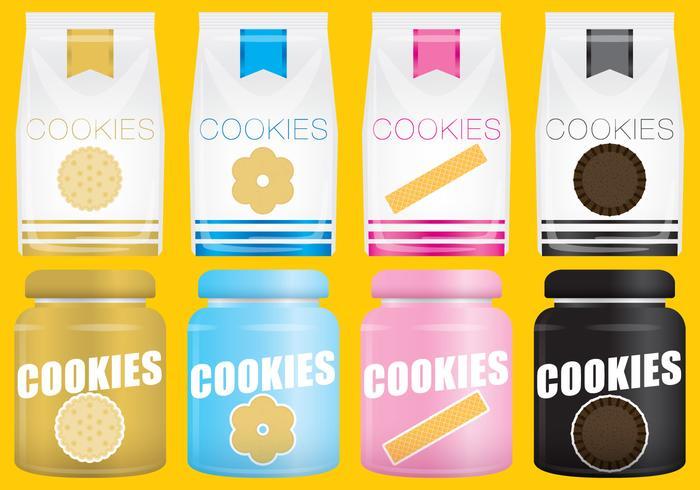 Biscotti pacchetto vettoriale
