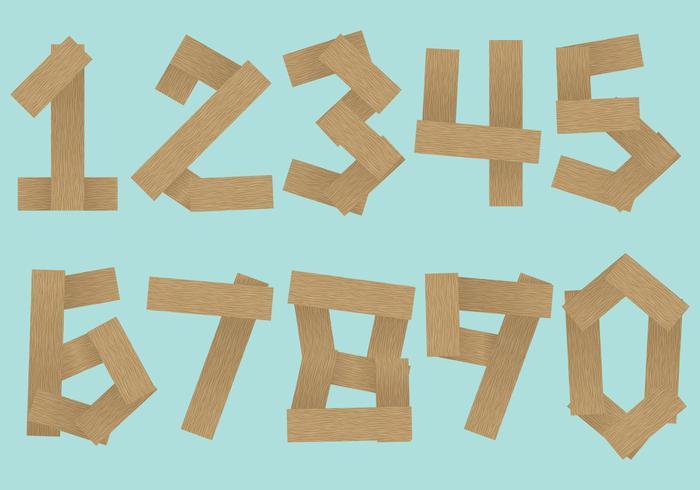 Vettori del numero di legno