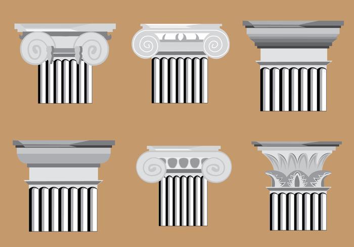 Klassieke Romeinse Pijlervectoren