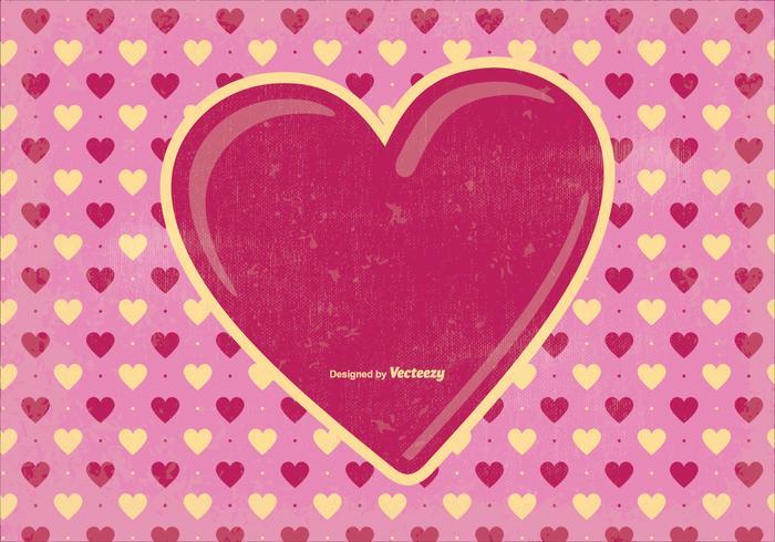 Old Valentine's Day Background Illustration
