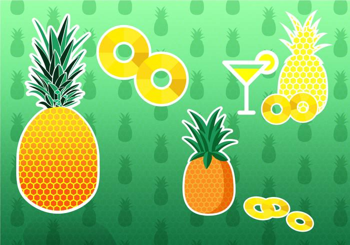 Pineapple Ananas Vectors