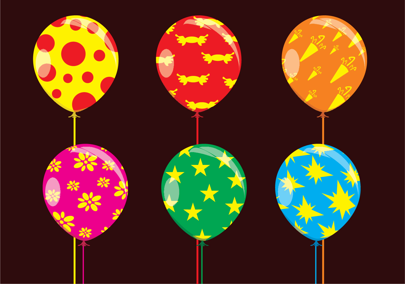 Fun Balloons Vectors Download Free Vector Art Stock
