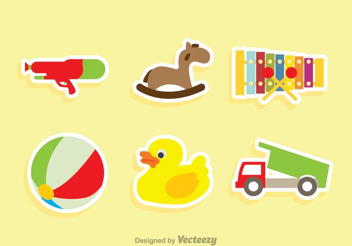 Children Toys Sticker Vectors