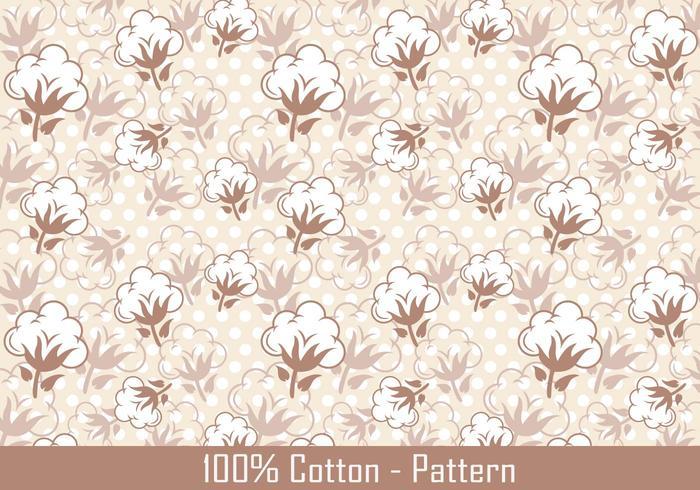 Vector Cotton Plant Pattern