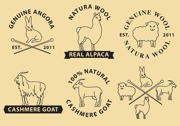Logos de vetores de lã e caxemira