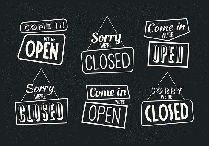Vetores vetoriais abertos e fechados