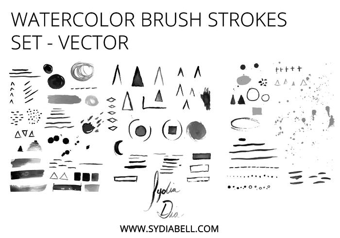 Watercolor Vector Brush Set