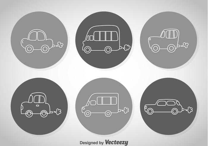 Line Cars Icons