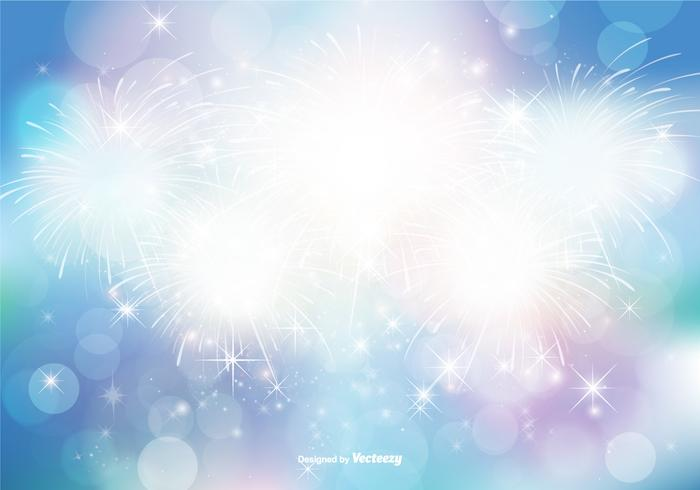 Abstract Bokeh and Glitter Background Illustration vector