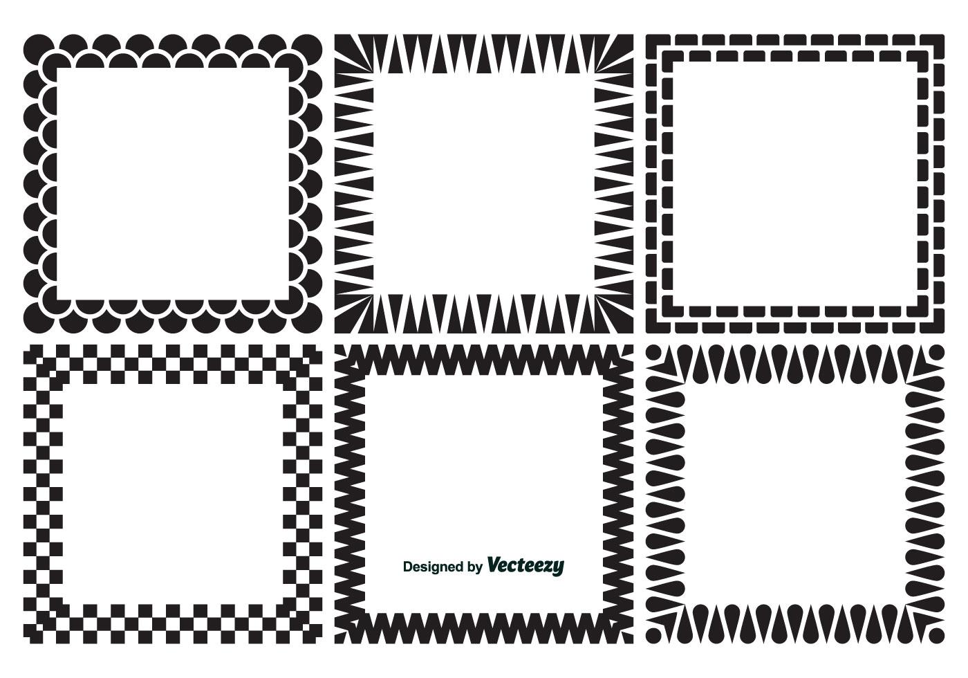 Dekorative quadratische Rahmen - Kostenlose Vektor-Kunst, Archiv ...