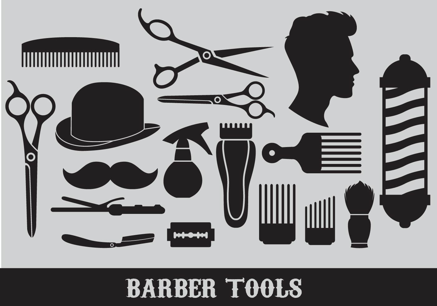 103501 Barber Tools Vectors on Beauty Salon Equipment