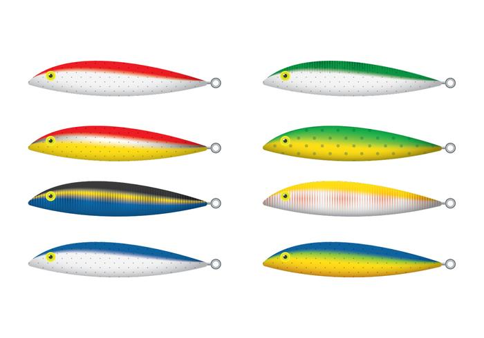 Drijvende Rapala Fishing Lure Vectors