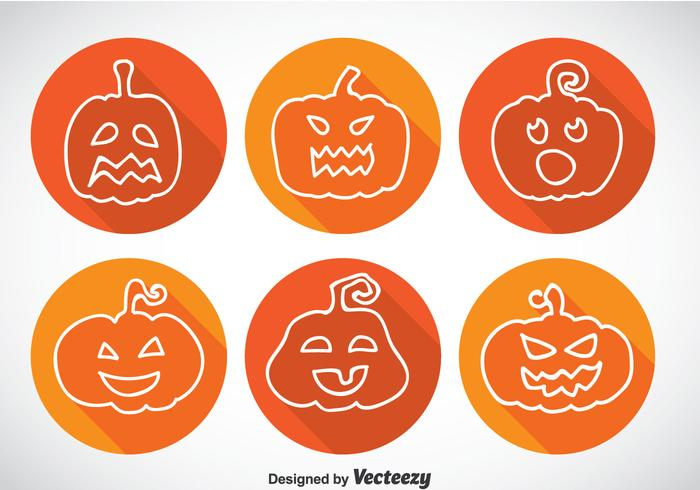 Pumpkin Long Shadow Icons