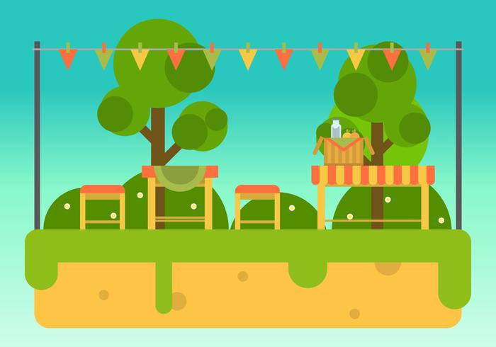 Family Picnic Vector Illustrations #4