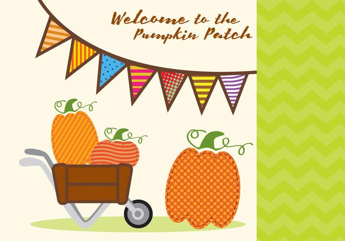 Pumpkin Patch Invitation Vector